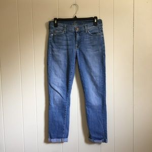 7 for all mankind cropped medium wash 26 jeans